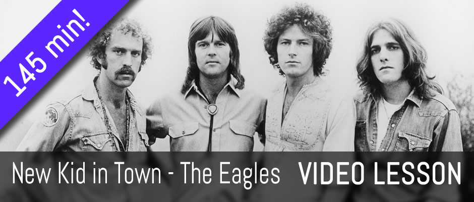 New Kid in Town, The Eagles - fingerstyle guitar arrangement - video lesson