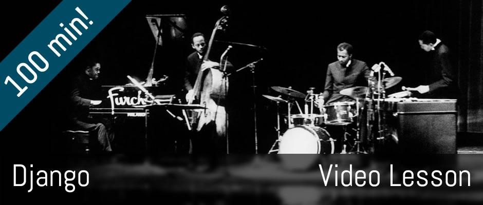 Django - Modern Jazz Quartet - guitar lesson!