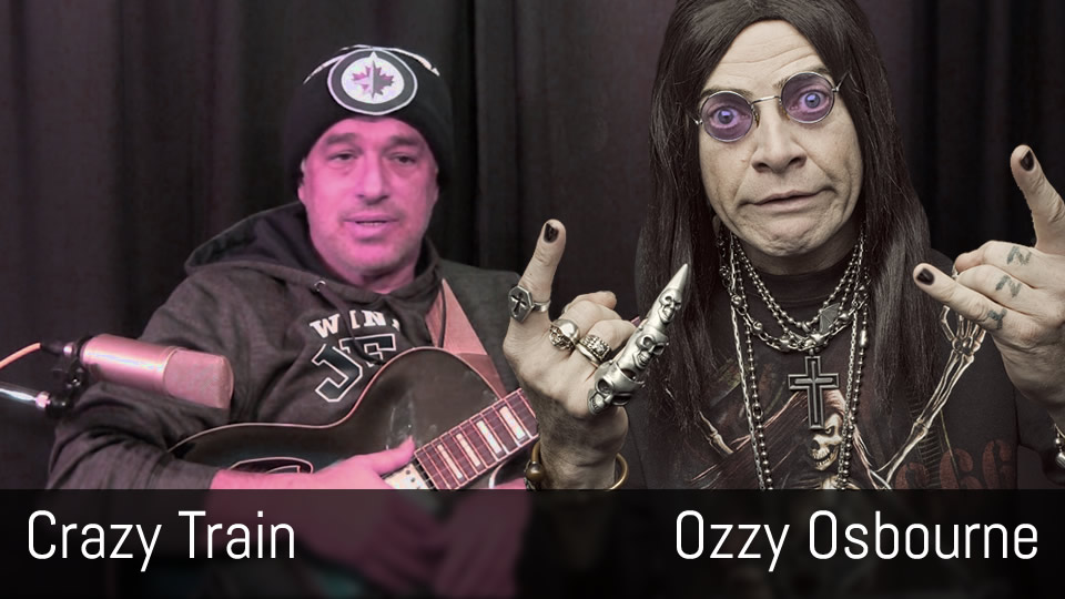Crazy Train, Ozzy Osbourne, Randy Rhoads, fingerstyle guitar