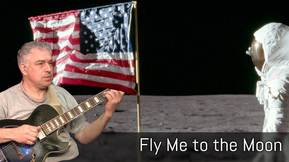 Fly Me to the Moon, solo jazz guitar