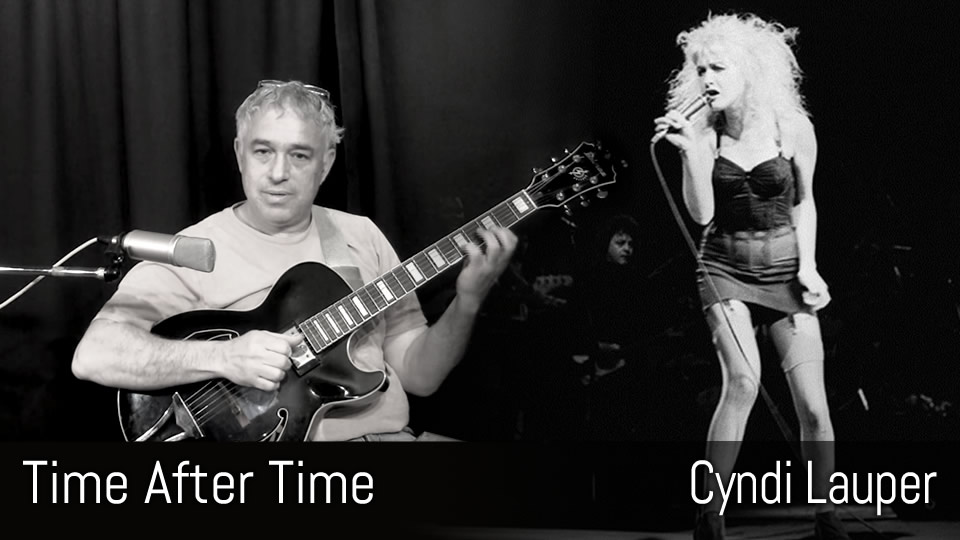 Time After Time, Cyndi Lauper, fingerstyle guitar